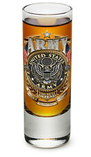 UNITED STATES ARMY GOLD SHIELD 2OZ SHOT GLASS NEW