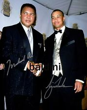 MUHAMMAD ALI & TIGER WOODS SIGNED 10X8 PHOTO PRINT, LOOKS GREAT FRAMED