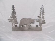 Bear key rack holder scarf hooks metal decoration art