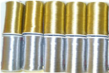 10 x GOLD & SILVER Embroidery Metallic Threads Spool NEW COLLECTION UK