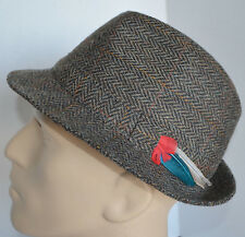 Shandon Headwear Donegal Multicolor Tweed Hat Woven Wool Ireland Fedora Mens 7