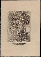 santino stampa popolare 1800 ANIME SANTE DEL PURGATORIO MARIA SS.  S.MICHELE ARC