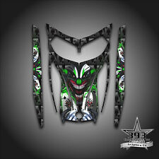 SKI-DOO REV MXZ SNOWMOBILE SLED WRAP GRAPHICS HOOD DECAL 03-07 EVIL JOKER GREEN
