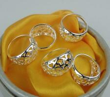 NEW !!  5pcs  MF 925 silver Plated Multi-Heart Rings 6-8