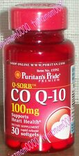 Co Q-10 COQ-10 100mg 30 Softgels Promotes Heart/Cardiovascular Wellness