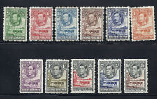 BECHUANALAND 1938-52 KGVI definitives (SG 118-128) F/VF MH *read desc*