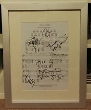 """OASIS Music Sheet """"Little By Little"""" SIGNED AUTOGRAPH LIAM NOEL GALLAGHER - RARE"""