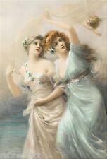 Handmade Oil Painting repro Edouard Bisson Love's Messengers