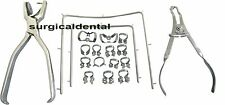 Rubber Dam Starter Kit of 18 Pcs with Frame Punch Clamps Dental Instrument SD3