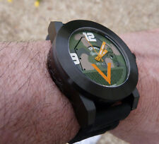 M1 ABRAMS TANK WATCH in camo w/black case Swiss GMT quartz and Sapphire Crystal
