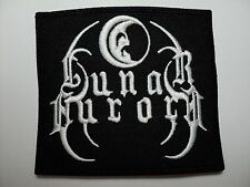 LUNAR AURORA  WHITE  LOGO  EMBROIDERED  PATCH