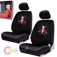 Betty Boop Car Seat Cover Auto Car Accessories Set  4pc Low Back Seat -Sky Line
