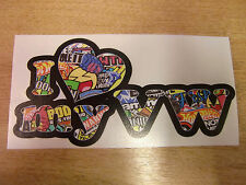 """I love my VW"" Sticker Bomb effect sticker/decal 200mm"