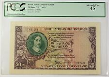 (1961) No Date South Africa 20 Rand Reserve Bank Note SCWPM# 108a EF-45 (A)