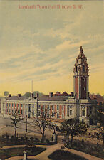 Lambeth Town Hall BRIXTON London England 1909 Chaucer Postcard