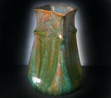 SUPERB PILKINGTON ROYAL LANCASTRIAN TRAILED & MERGED GLAZE VASE