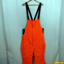 WINCHESTER Orange Hunting Cotton Bib OVERALLS Mens M insulated