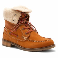 NEW Sebago Women's Trail Nubuck Cinnamon CANNELLE Leather Fur lined Boots hiking