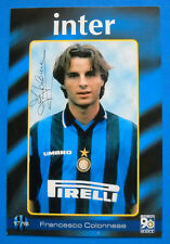 CARTOLINA UFFICIALE INTER 1997/98 - FRANCESCO COLONNESE - CM. 10X15