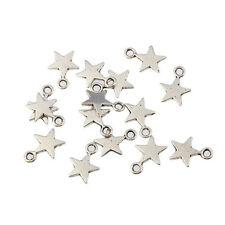 Little star Tibetan Silver Bead charms pendant fit EUROPEAN bracelet 20pcs 9*9mm