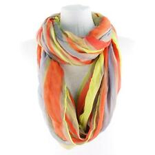 Super Wide Big Stripe Loop Circle Eternity Infinity Scarf Chain Rainbow Neon Pk