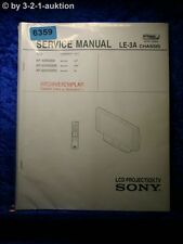 Sony Service Manual KF 50SX200 /K /U LCD Projrction TV (#6359)