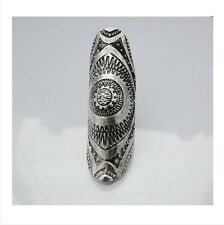 R1239 Retro No Nickel Vintage Anti-Silve Punk Joint Armor Knuckle Finger Ring