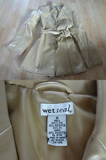 Women's Wet Seal M Leather Look Jacket Tan
