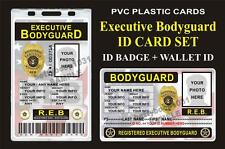 BODYGUARD ID Badge / Card Set **CUSTOM W Your Photo & Info** Both Cards Included