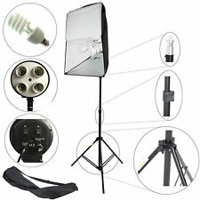 Kit Illuminatore Studio 4in1 con Softbox ES4 50x70 Stativo 4 Luci DayLight 800W
