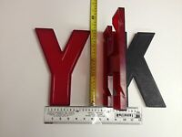 """10"""" Wagner Slotted Movie Theatre Marquee Sign Big Letters Numbers Large Vintage"""