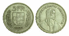 pci1407) Svizzera  Switzerland  Helvetia - 5 Franchi Francs 1932 B not cleaned