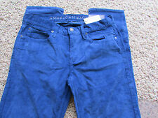 NEW AMERICAN EAGLE SKINNY BLUE CORDUROY JEANS MENS 31X32 FREE SHIP