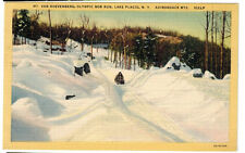 1935 postcard-Mt. Van Hoevenberg, Olympic Bobsled Run, Lake Placid, N.Y.
