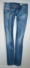 "NEW DIESEL NEVY 008SV stretch Taper SKINNY JEANS woman size W26 L32 uk 8 32""leg"