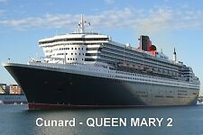 SOUVENIR FRIDGE MAGNET of CRUISE SHIP QUEEN MARY 2 - CUNARD