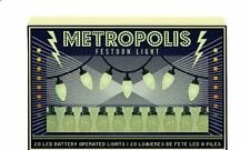 Set di 20 LED STILE VINTAGE CON FESTONE METROPOLIS Party Luci Decorative