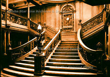 Photo: 5x7: Sepia View: RMS Titanic's 1st Class Main Grand Staircase