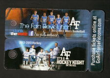 2012-13 Air Force Falcons Hockey & Basketball Key Chain Schedules