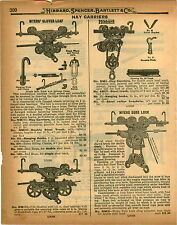 1926 PAPER AD 7 PG Myers' Clover Leaf Hibbard Hay Carrier Trolley Pulleys