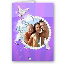 Personalised Photo Doves A5 All Occasion Card, Mothers, Birthday, Wedding Day