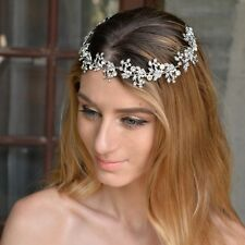 Bridesmaids Bridal Vintage Style Flower Silver Austrian Crystal Hair Comb Tiara