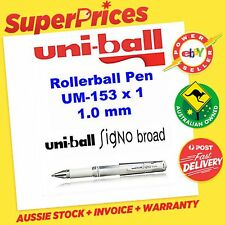 UNIBALL SIGNO BROAD GEL INK UM-153 x 1 ROLLER BALL 1.0 MM PEN WHITE MARKER ART