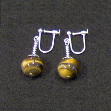 Clip On - Tigers Eye Potara Earrings Dragonball-Z DBZ Dragon Ball Ear rings