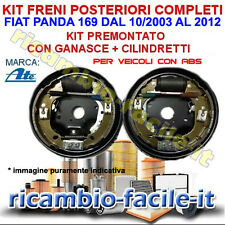 KIT FRENO POSTERIORE COMPLETI FIAT PANDA 169 1.2 NATURAL POWER METANO GANASCE