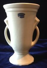 """Rockwood Pottery Cream Double Handled Vase 10"""""""