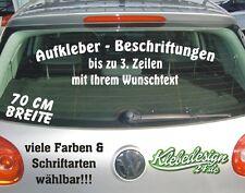 3 Zeilen - 70cm - Aufkleber Beschriftung Werbung Sticker Heckscheibe Lack KFZ