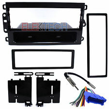 Radio Replacement Dash Kit 1-DIN w/Pocket/Harness/Antenna for Buick/Cadillac