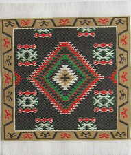 "Beautiful Dollshouse Dolls House Miniature Woven Turkish Carpet 4"" x 4"""