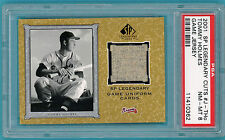 2001 SP Legendary Cuts, Tommy Holmes Game Used Jersey #J-THo PSA 8! Braves!